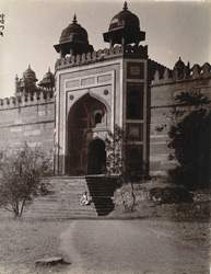 Exterior view of the King's Gate of the Jami Masjid, Fatehpur Sikri